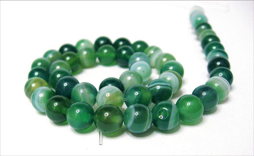 Natürliche Streifen Achat Perlen Matte Schwarz 6mm Edelsteine Natur G854