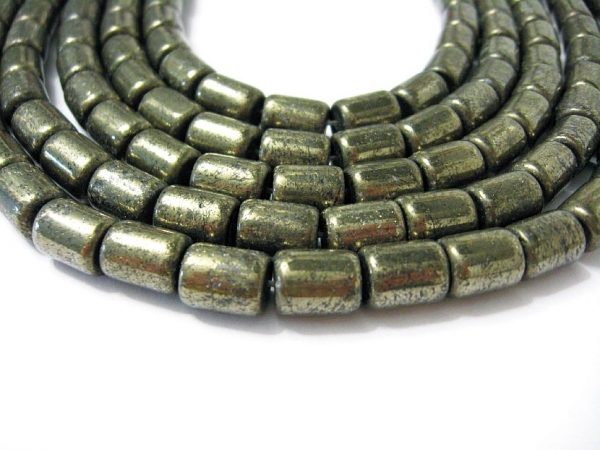 Pyrit 10x8 mm Edelsteinstrang